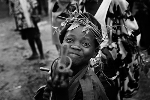 Congolese child soldier