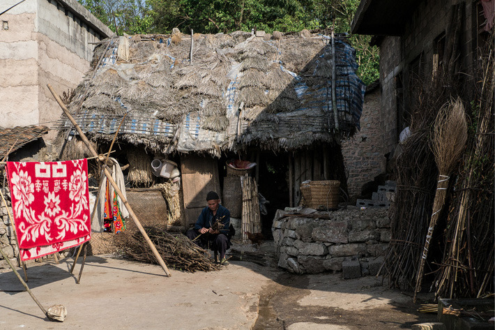 Stone houses of the Miao tribe in Guizhou, China