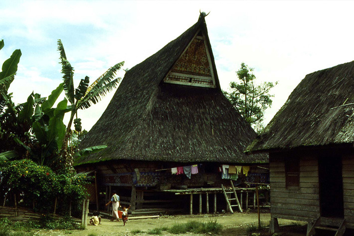 Traditional Batak longhouse in Lingga Village, North Sumatra