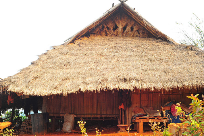 Houses of the Akha tribe in Chiang Rai, Thailand