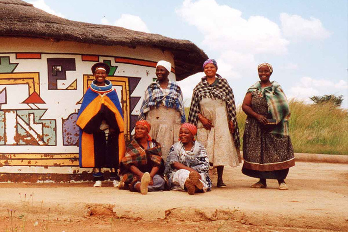 Ndebele tribes in Loopspruit, Gauteng, South Africa
