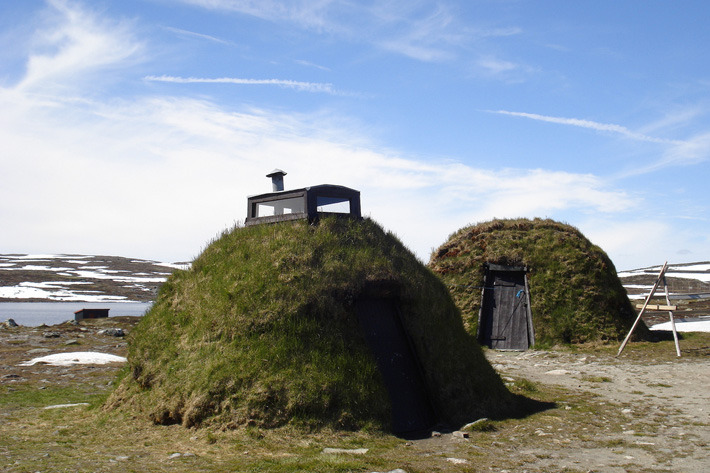 Sami houses in Hardangervidda, Southern Finland