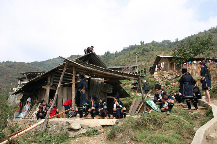 Hmong people living in Sa Pa, Vietnam