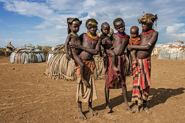 Daasanach tribe houses in Southern Ethiopia