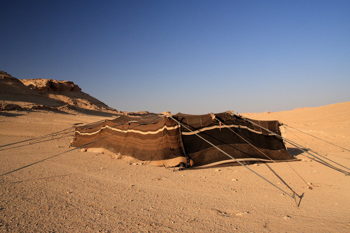 Bedouin tents in the Syrian Desert