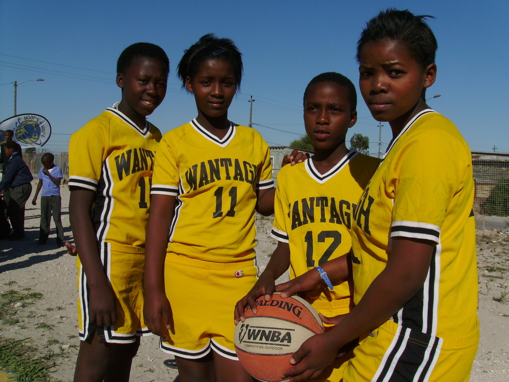 Uniforms once worn in Wantagh, Long Island, NY now suit a team of hopefuls in Philipi, Cape Town, South Africa!