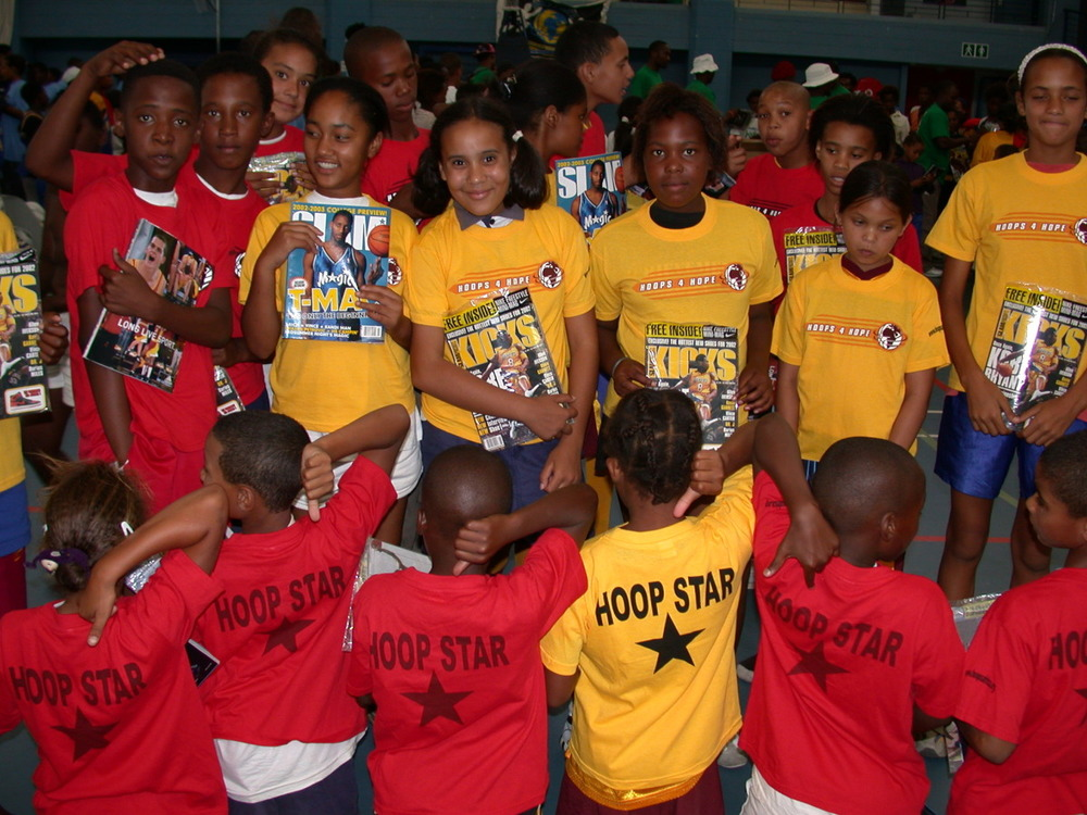 At H4H everyone is a star! Kids at a H4H event with special prizes in Cape Town, South Africa.