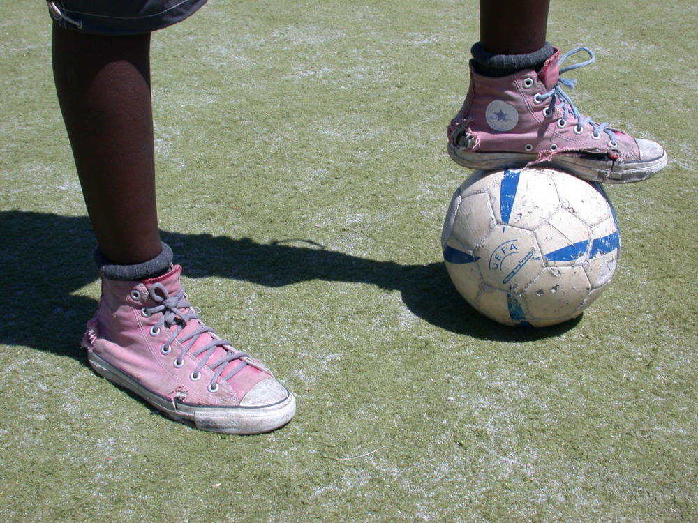 Tools of the beautiful game! Nyanga, Cape Town South Africa