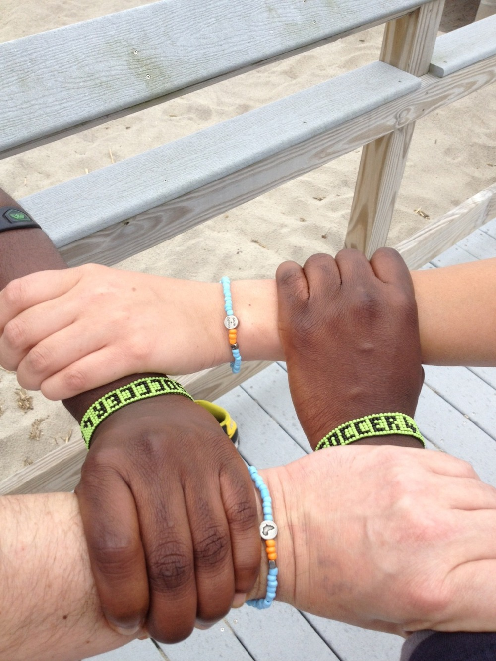 True Ubuntu!  Supporters in the US help sustain programs in Africa by representing and buying our unique bracelets!