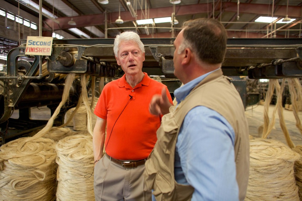 President Clinton and Chef Jose Andres in Haiti.