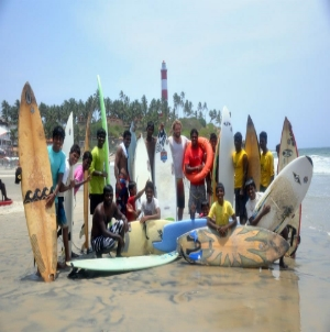Jelle and the Kovalam Surf Club