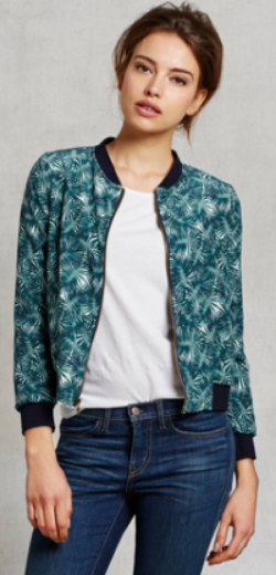 Zady's Green Palm Art Jacket