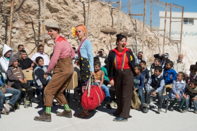 All photos courtesy of Clowns Without Borders. Palestine, 2013. Photo by Baruch Rafiach.