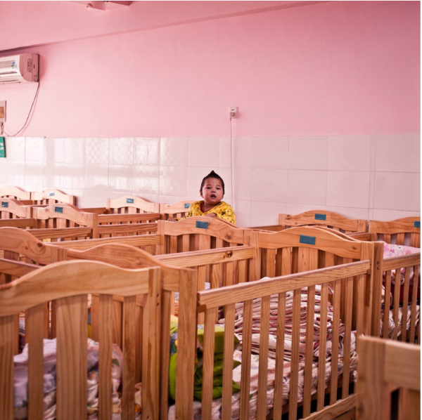 Above:  Baby room at the Zhengzhou orphanage.