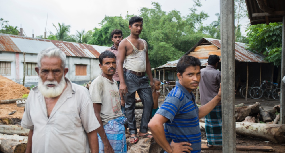 Only informal work, like at this sawmill, is available for enclave dwellers in Bangladesh.