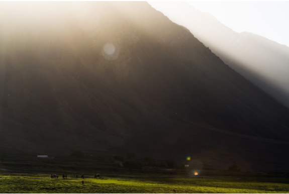 An oasis of green grazing lands surrounds the small Afghan village of Sarhad. At 3,400 metres it is the starting point for our ambitious traverse of the Wakhan.