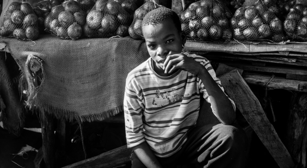 He was selling onions on the side of the road to Nairobi