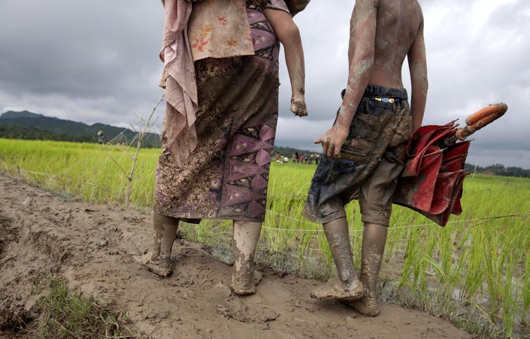 Bangladesh is not able to host and protect hundreds of thousands of Rohingyas who are trying to cross the border, September 8 2017.EPA-EFE/MONIRUL ALAM