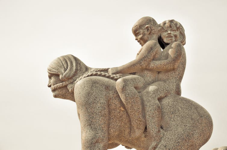 A sculpture in Vigeland Park, Oslo. Life in Norway is great for some, but not for all. PROC.K. Koay / flickr, CC BY-SA