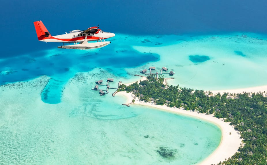 The Maldives: beautiful, but vulnerable. Shutterstock