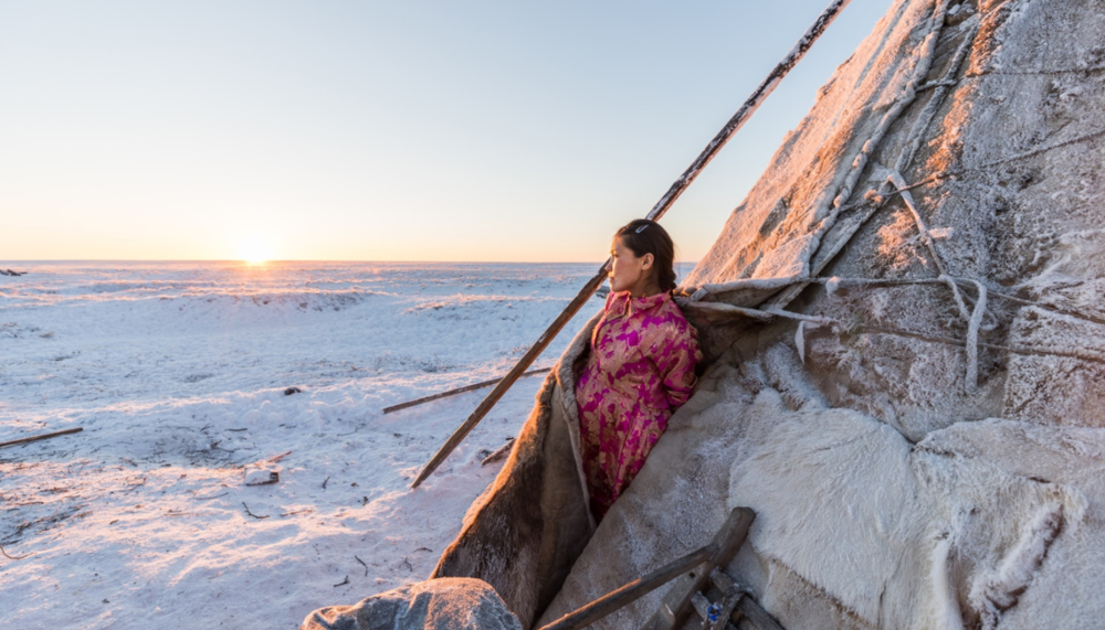 Lena's domestic responsibilities are crucial to support her family given the extreme environment. She must coordinate with the hospital helicopter service for pick up in advance of going into labor, but not too early as her ongoing presence out on the tundra is essential.