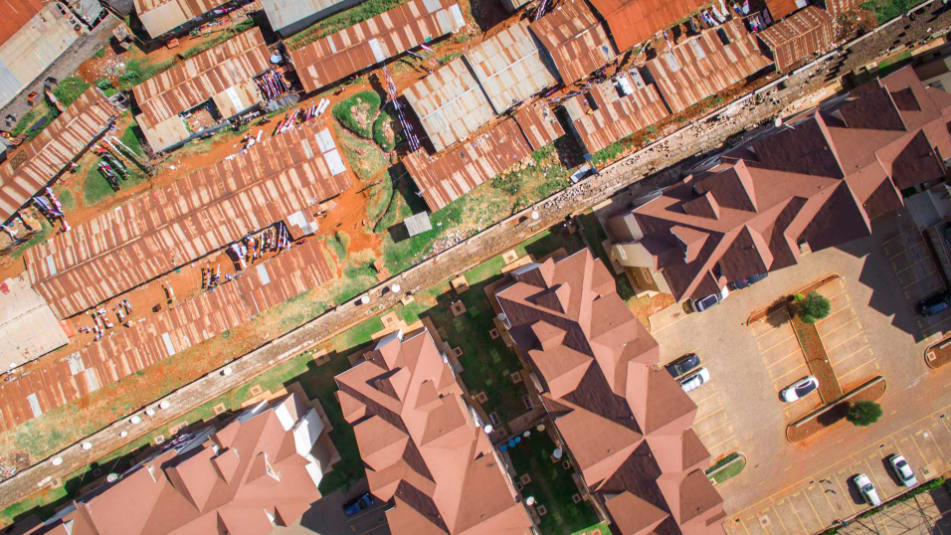 The suburb of Loresho is home to the wealthy and the poor alike.