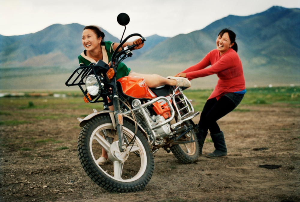 Two friends go out for a ride near their home by Üüreg Lake (Үүрэг нуур) in western Mongolia.