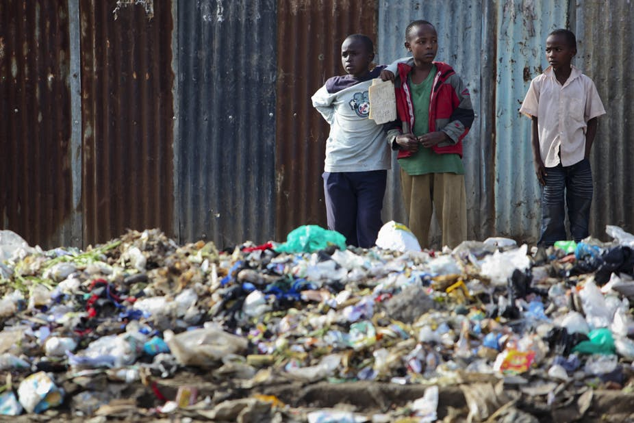 Nairobi's current waste disposal system is fraught with major problems. EPA/Dai Kurokawa