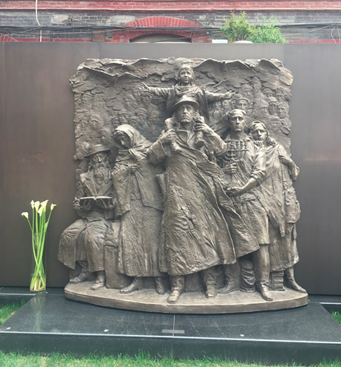 The start of the memorial wall at the Jewish Refugee Museum (62 Changyang Road Shanghai, China)