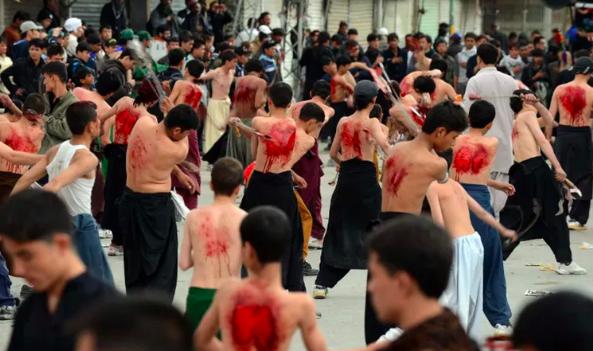 Ashura procession in Pakistan. Diariocritico de Venezuela , CC BY