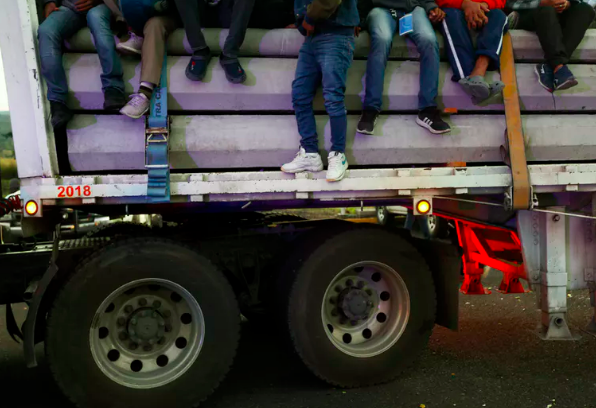 Two trucks carrying an estimated 80 migrants went missing in Mexico in early November.  AP Photo/Marco Ugarte