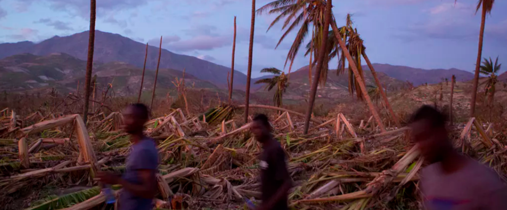 Haiti had not yet recovered from its devastating 2010 earthquake when it was hit hard by Hurricane Matthew in 2016. It is one of the world's most vulnerable nations to climate change. AP Photo/Rebecca Blackwell