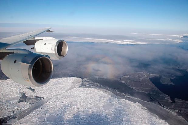 Flying over the Brunt Ice Shelf. NASA/Michael Studinger. CC 2.0  https://www.flickr.com/photos/nasa_goddard/5281037316/in/photolist-Up4XjE-8ZmvJ2-93EGpw