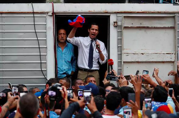 Venezuelan opposition leader Juan Guaidó at a rally in Caracas, March 29, 2019. Reuters/Carlos Garcia Rawlins