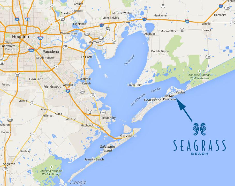Seagrass Beach is located on the Bolivar Peninsula near Crystal Beach, Texas