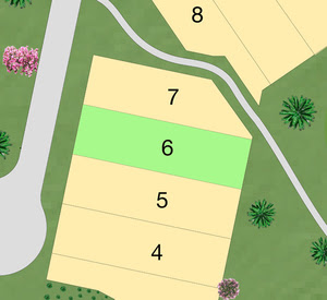 LOT 6 - 316 SEAGRASS Price: $265,000 Size: 6,600 sf (0.152 Acres)