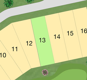 LOT 13 - 330 SEAGRASS Price: $225,000 Size: 6,600 sf (0.152 Acres)