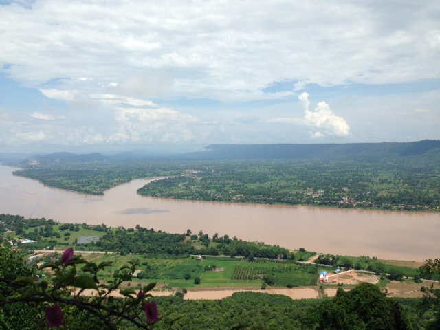 View from the Temple, overlooking Laos across the Mekong River.