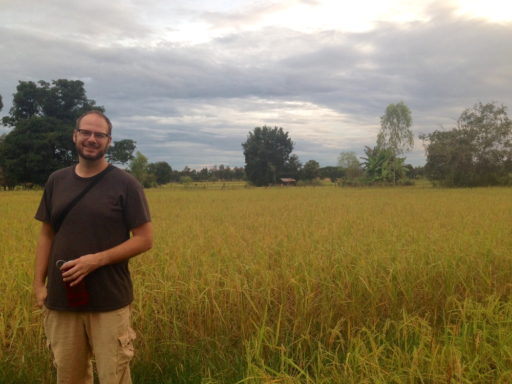 My husband and non-harvested rice