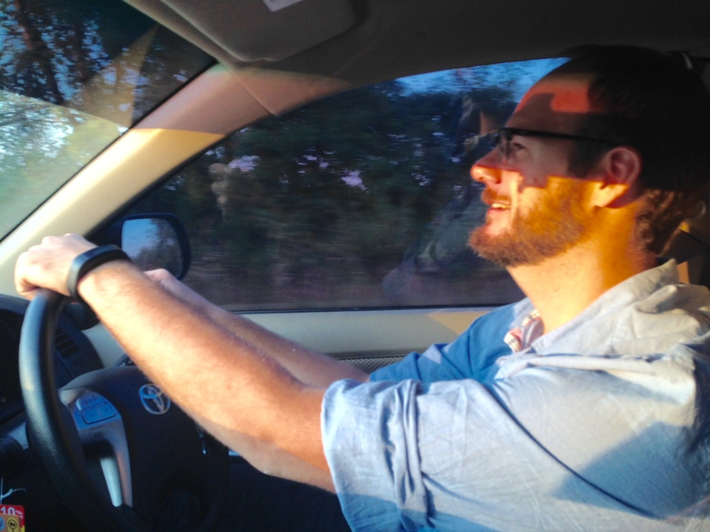 A shot of John during his first time driving in Thailand - and quite successfully I might add!