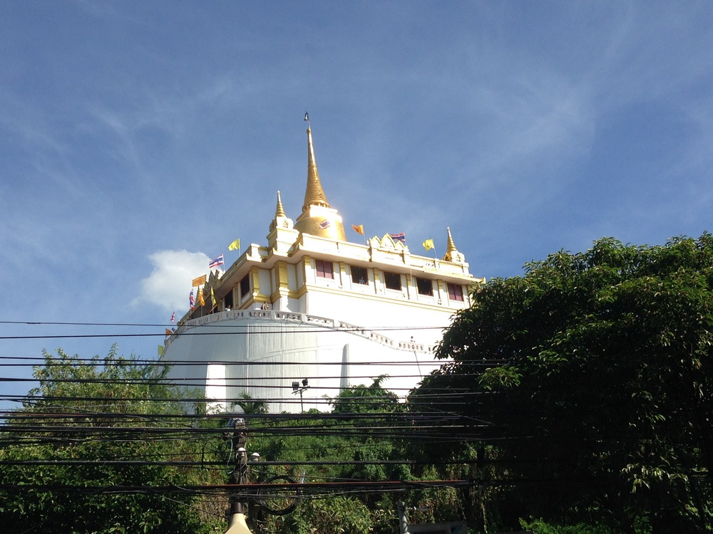 ...to the Golden Mount - one of Bangkok's many Buddhist sites.