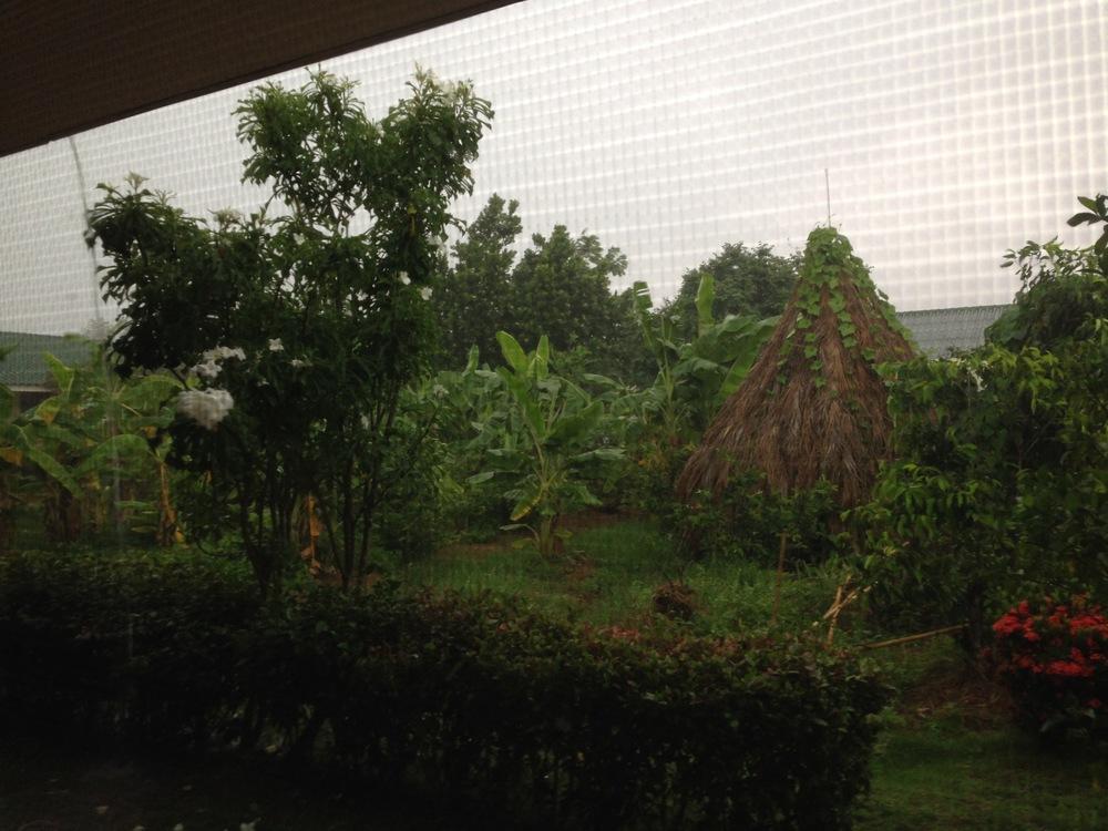 Rainy days are more common as the rainy season begins