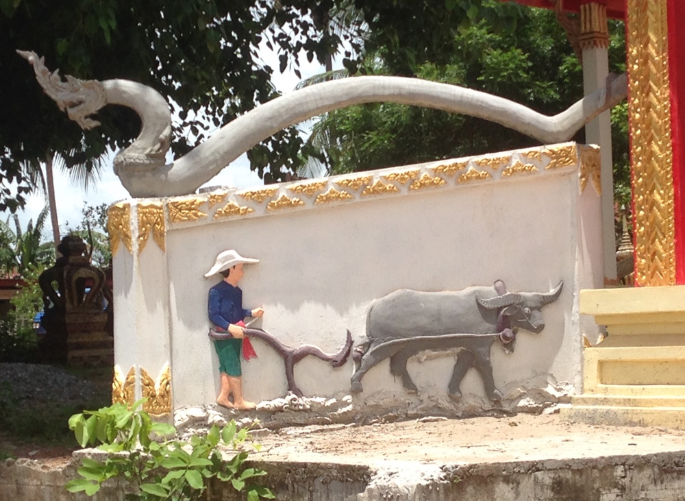A water buffalo depiction - apparently, it is the animal of the week!