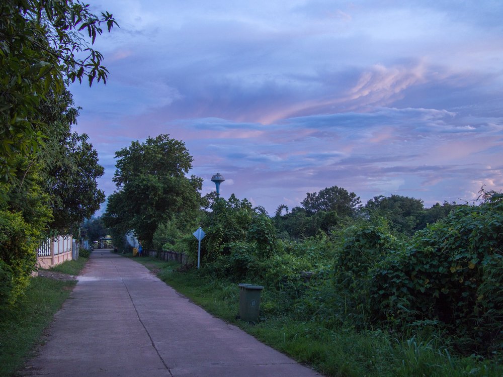 A rare sunset of blue & purple.