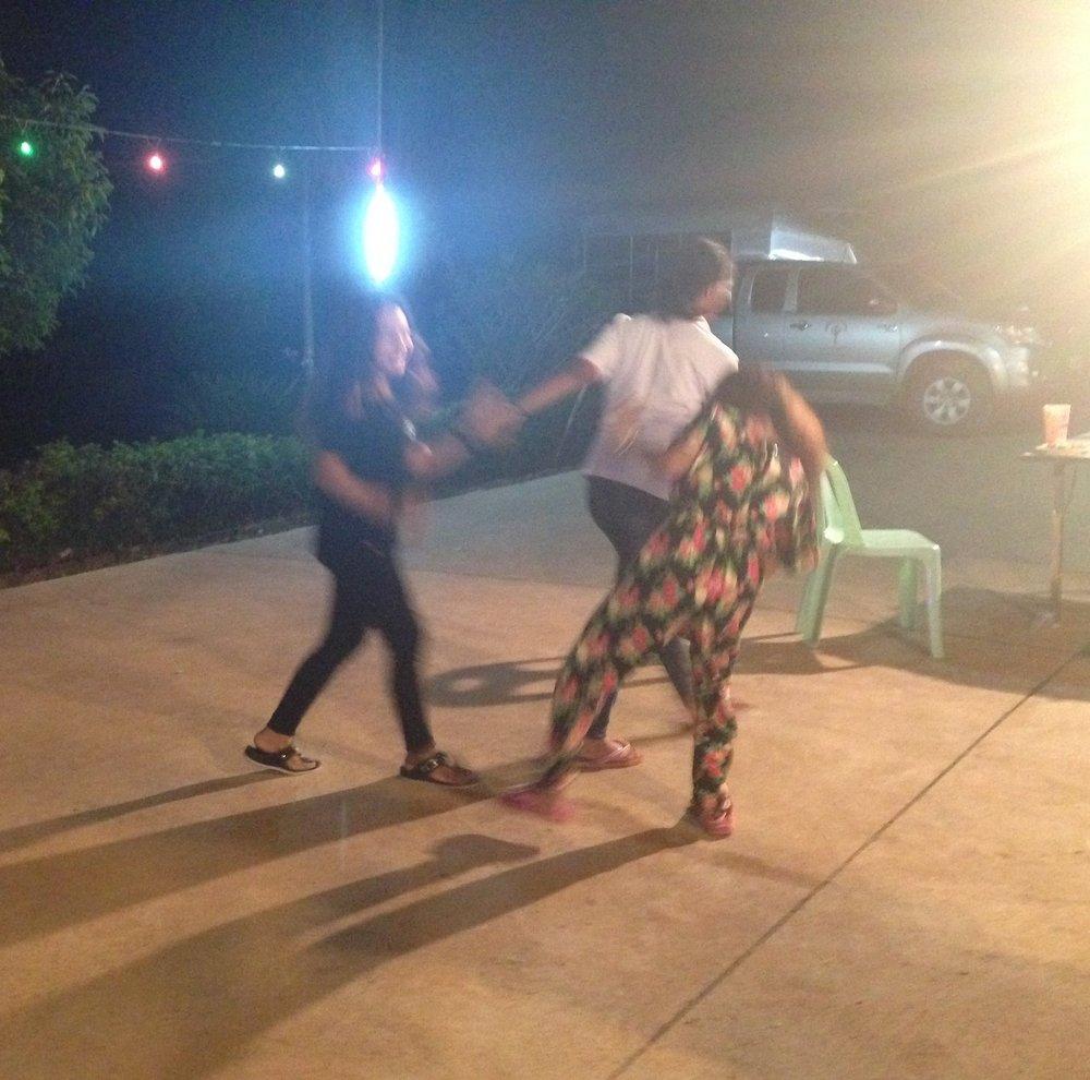 Teens and twenty-somethings dancing the night away.