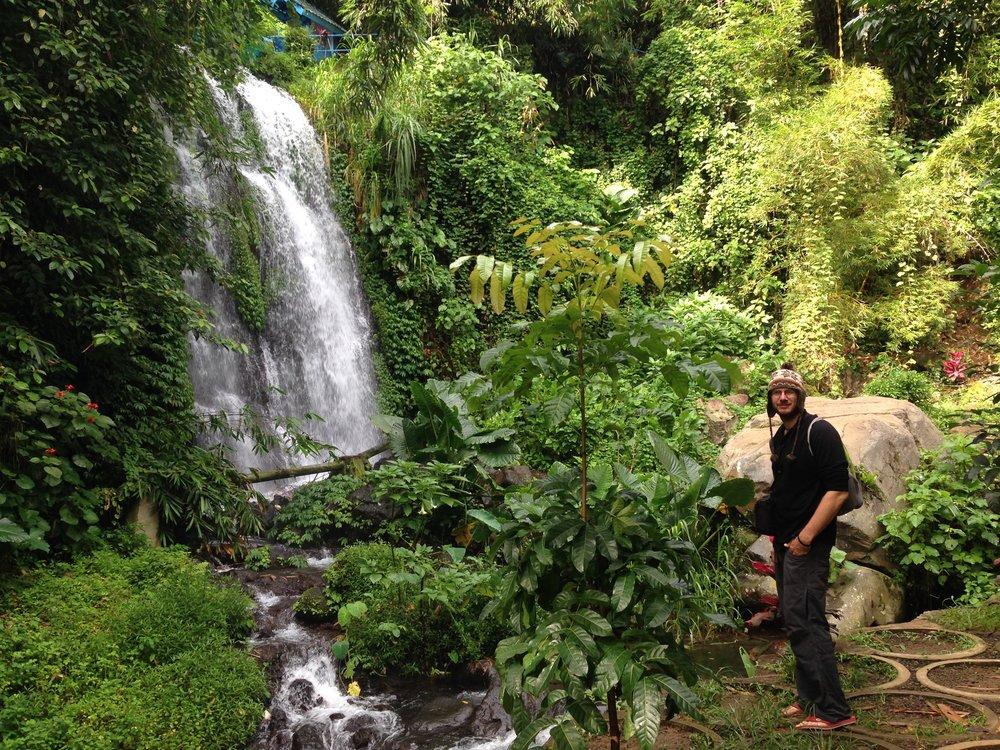 Random excursions to waterfalls.