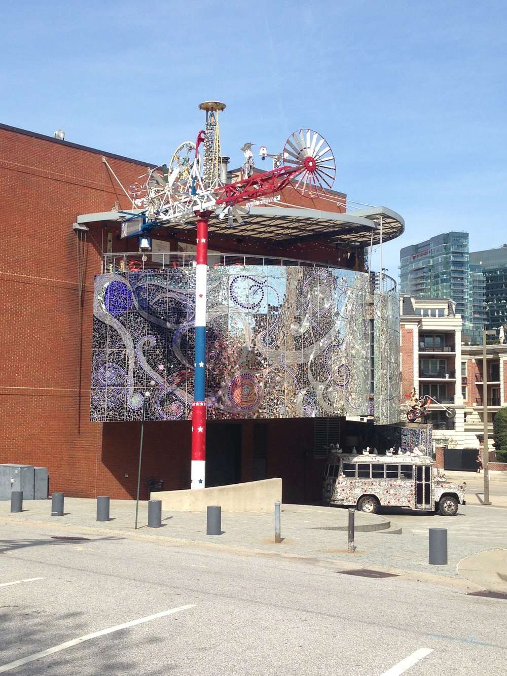 The American Visionary Art Museum in Baltimore. It was closed on the day I went, but I hope to go back another time.