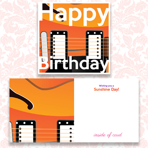 Happy Birthday Cards With A MUSIC Theme GEORGE