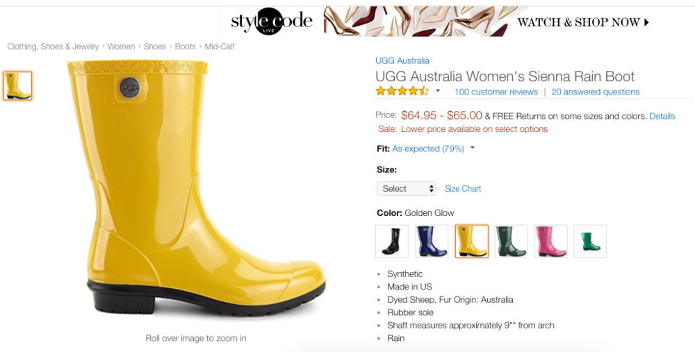 1.Boots & Water Female Uggs Amazon.png
