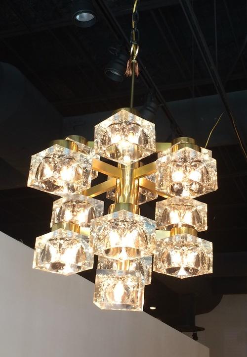 Sold gaetano sciolari brass chandelier with crystal ice cubes sold gaetano sciolari brass chandelier with crystal ice cubes mozeypictures Choice Image